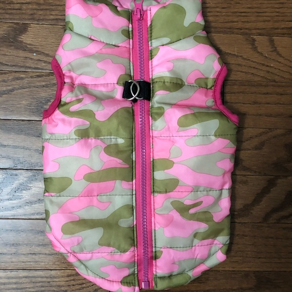 NEW! Pink Camo vest for Small Dog